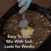 Earth Dust Grow Products Mixed with Soil